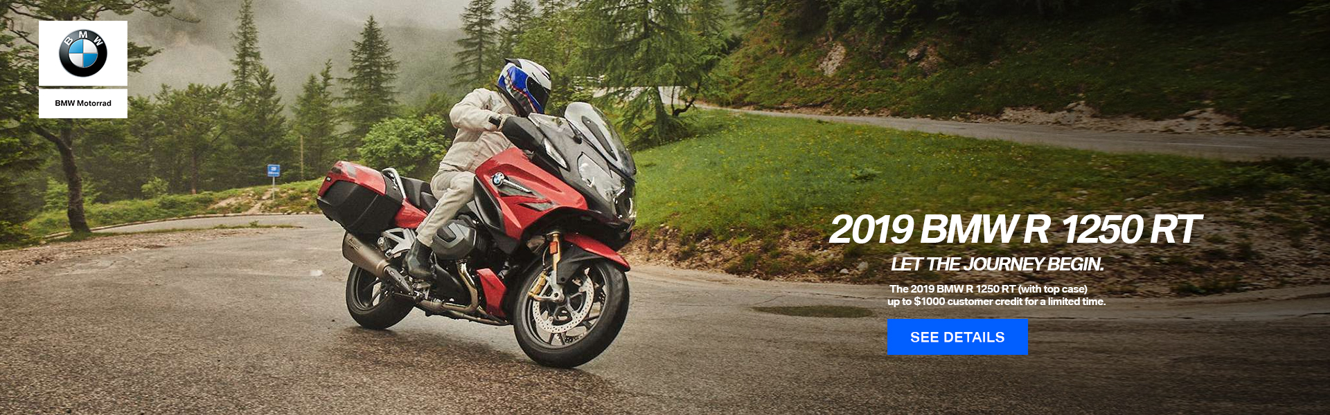 2019 BMW R 1250 R With Top Case Up to $1000 customer credit for a lmited time