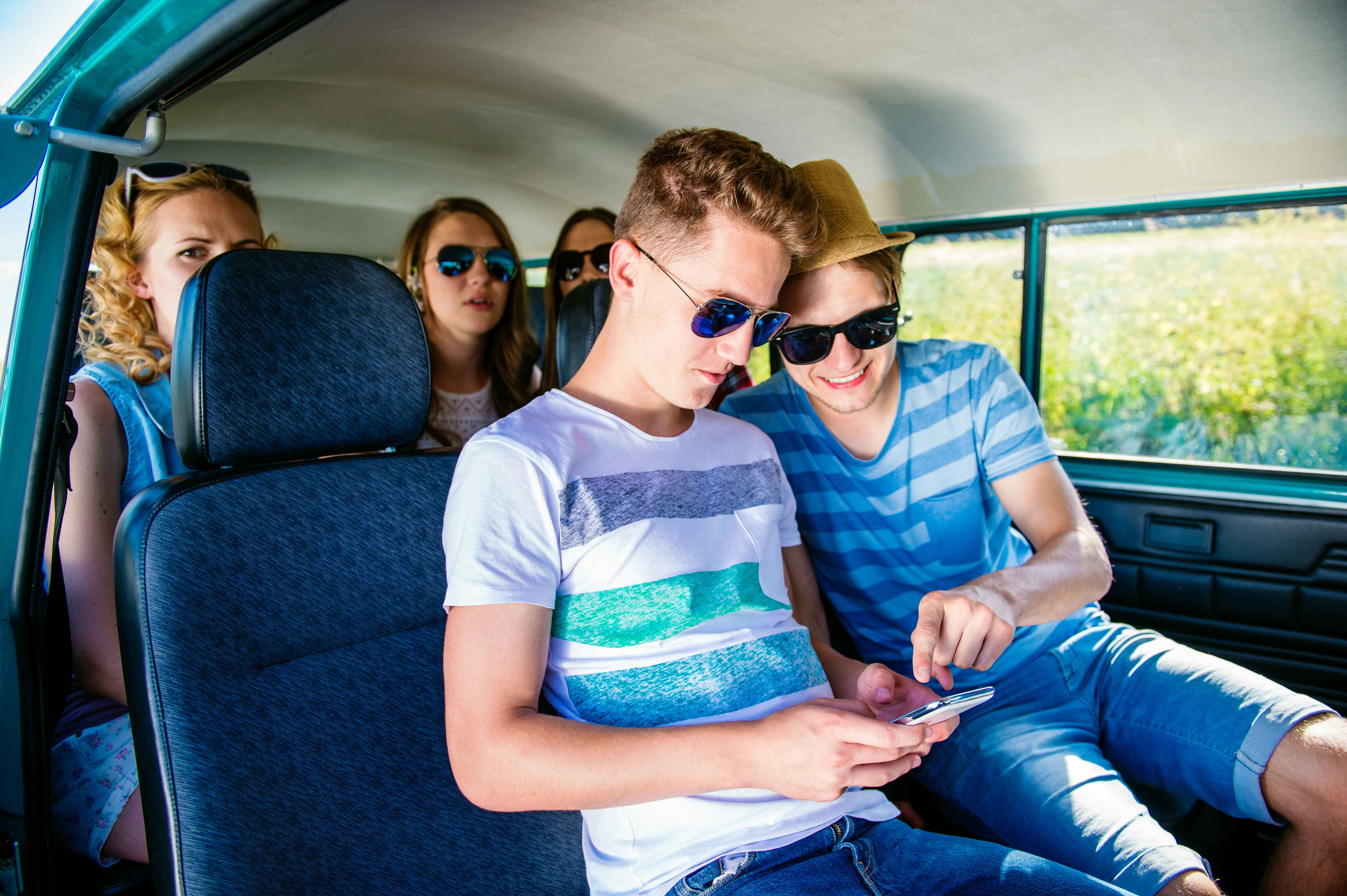 Teenagers on phones